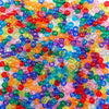6 x 9mm Plastic Pony Beads in mixed transparent colors