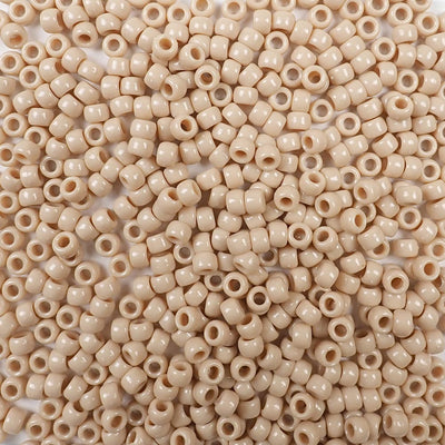6 x 9mm plastic pony beads in dark ivory