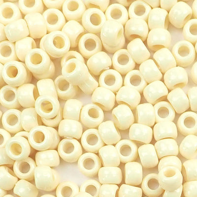 ivory 6 x 9mm Plastic Pony Beads
