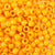 goldenrod yellow orange color of 6 x 9mm plastic pony beads in bulk