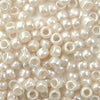 antique pearl 6 x 9mm plastic pony beads in bulk