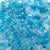 caribbean blue inspired colors of 6 x 9mm plastic pony beads