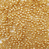 6 x 9mm plastic pony beads in gold pearl
