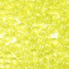 yellow glitter 6 x 9mm plastic pony beads in bulk