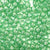 peridot green glitter 6 x 9mm plastic pony beads in bulk