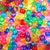 Transparent rainbow colors of 6 x 9mm Plastic Pony Beads