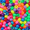 6 x 9mm Plastic Pony Beads in Rainbow Colors