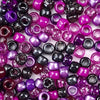blackberry inspired colors of 6 x 9mm plastic pony beads