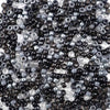 6 x 9mm plastic pony beads in a mix of black and gray colors