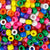 rainbow sprinkles colors of 6 x 9mm plastic pony beads