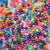 Basic Rainbow Pearl Mix Plastic Pony Beads 6 x 9mm, 1000 beads