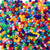 Rainbow Assortment Opaque Mix Plastic Pony Beads 6 x 9mm, 1000 beads