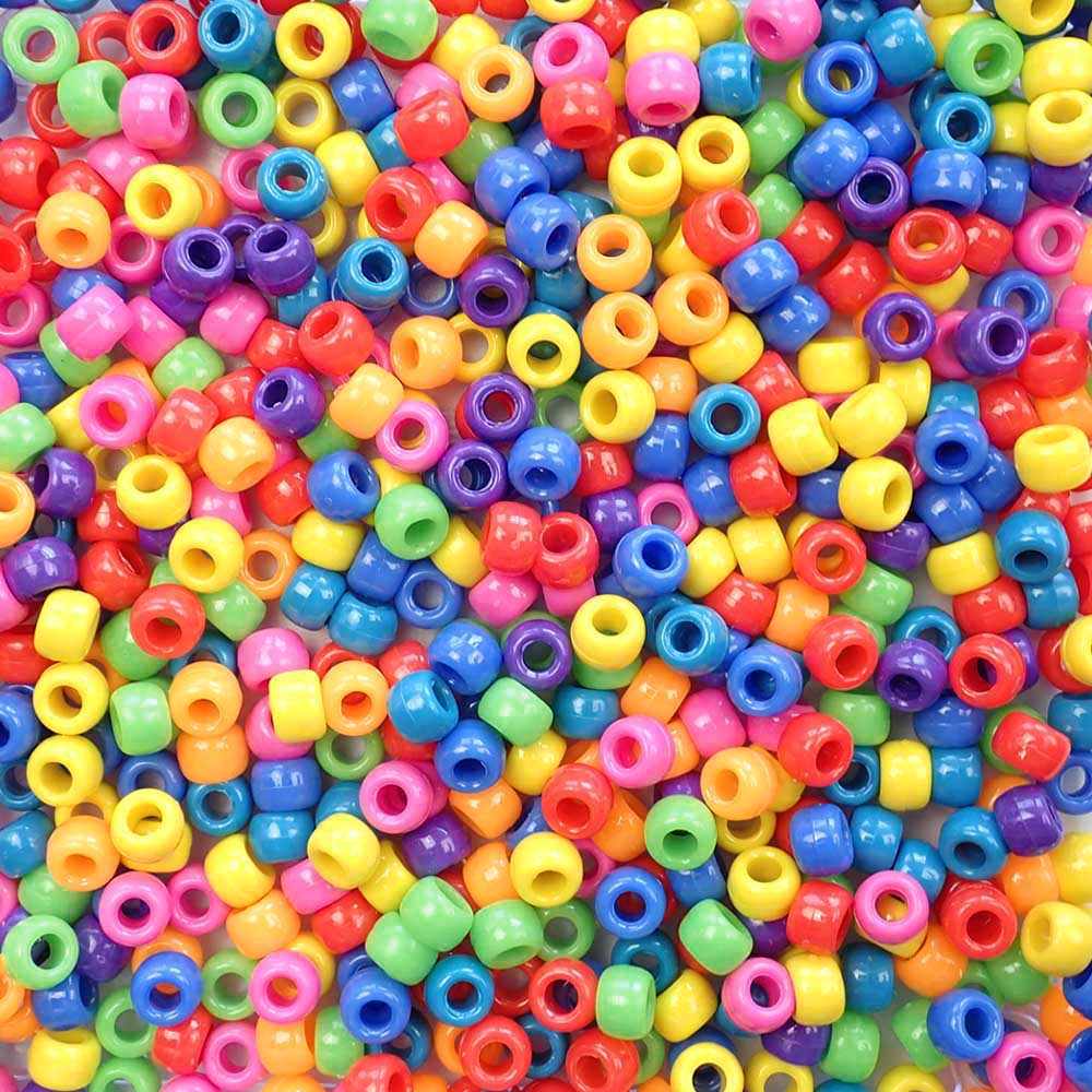 Pony bead mix in circus theme colors