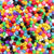 Plastic Pony Bead Shapes Mix, Opaque Colors, 125 beads