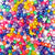 Plastic Pony Bead Shapes Mix, Pearl Colors, 65 grams