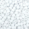 white 6 x 9mm plastic pony beads in bulk