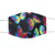 Rainbow Butterflies, Black, 100% Cotton Basic Face Mask, (no pocket, no nose wire)