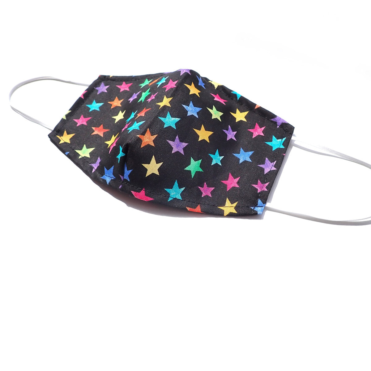 Rainbow Stars, 100% Cotton Basic Face Mask, (no pocket, no nose wire)