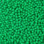 6mm Round Plastic Craft Beads, Green Opaque, 500 beads
