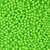 6mm Round Plastic Craft Beads, Lime Green Opaque, 500 beads