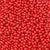 6mm Round Plastic Craft Beads, Red Opaque, 500 beads