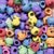 Plastic Multi-color Skull Beads, 36 beads