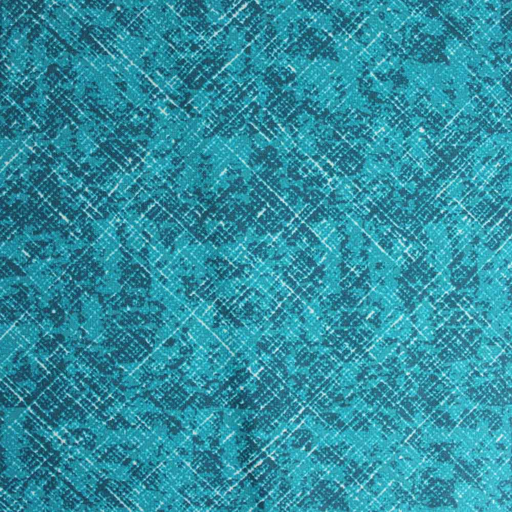 Turquoise Hatch Pattern, 100% Cotton Fabric, per yard