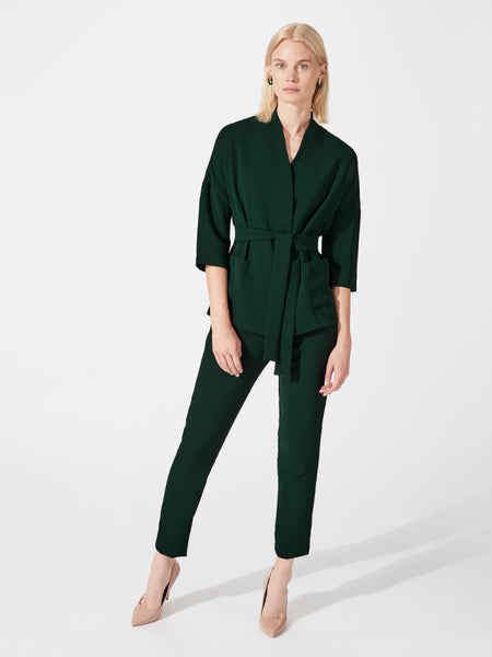 Green co-ord cigarette suit trousers
