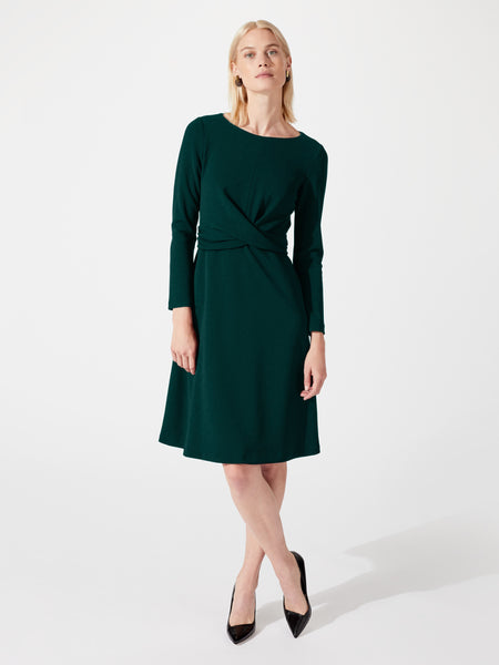 Long sleeve midi length a-line work dress