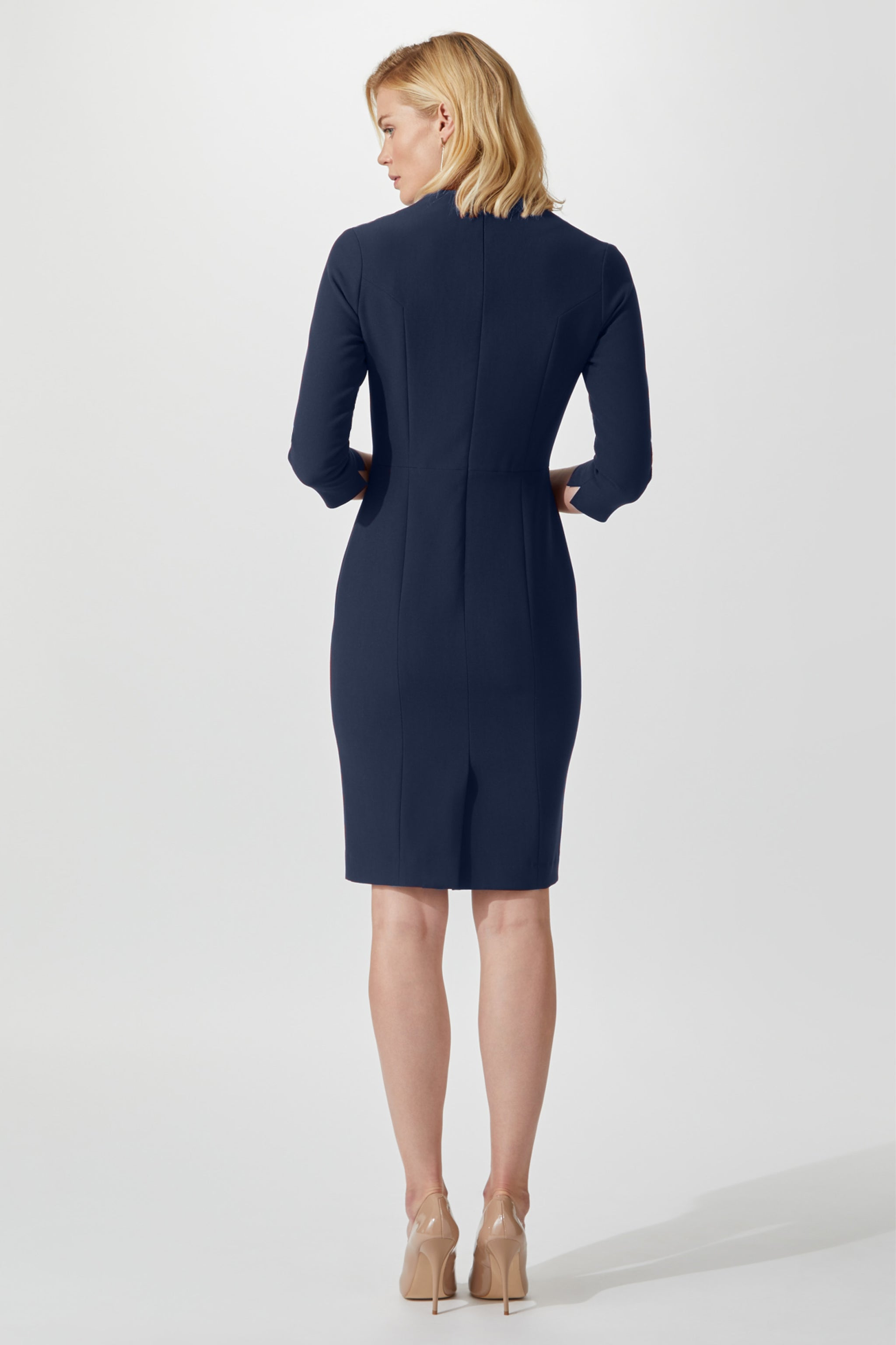 Belmont Navy Dress