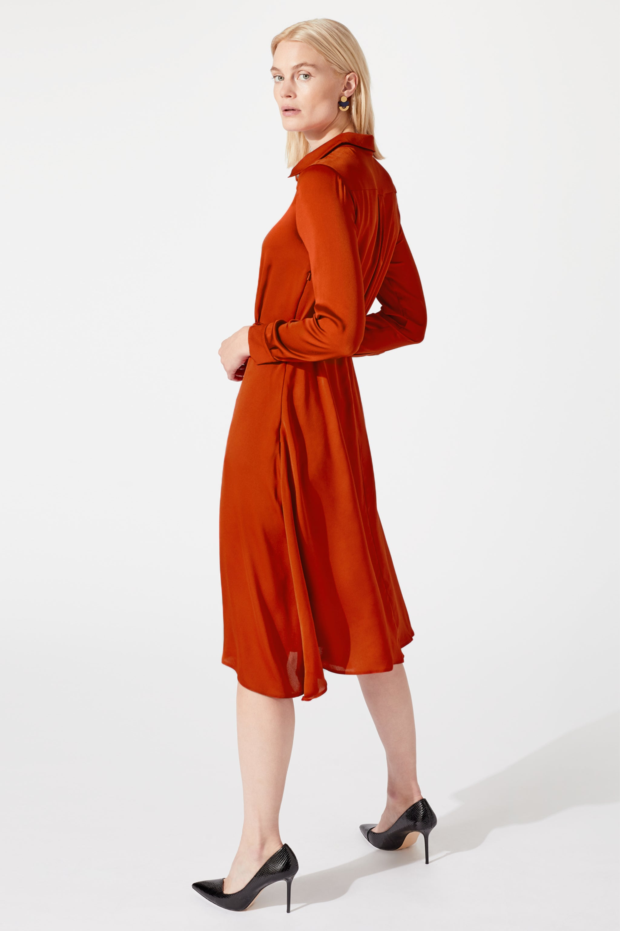 Exeter Terracotta Shirt Dress