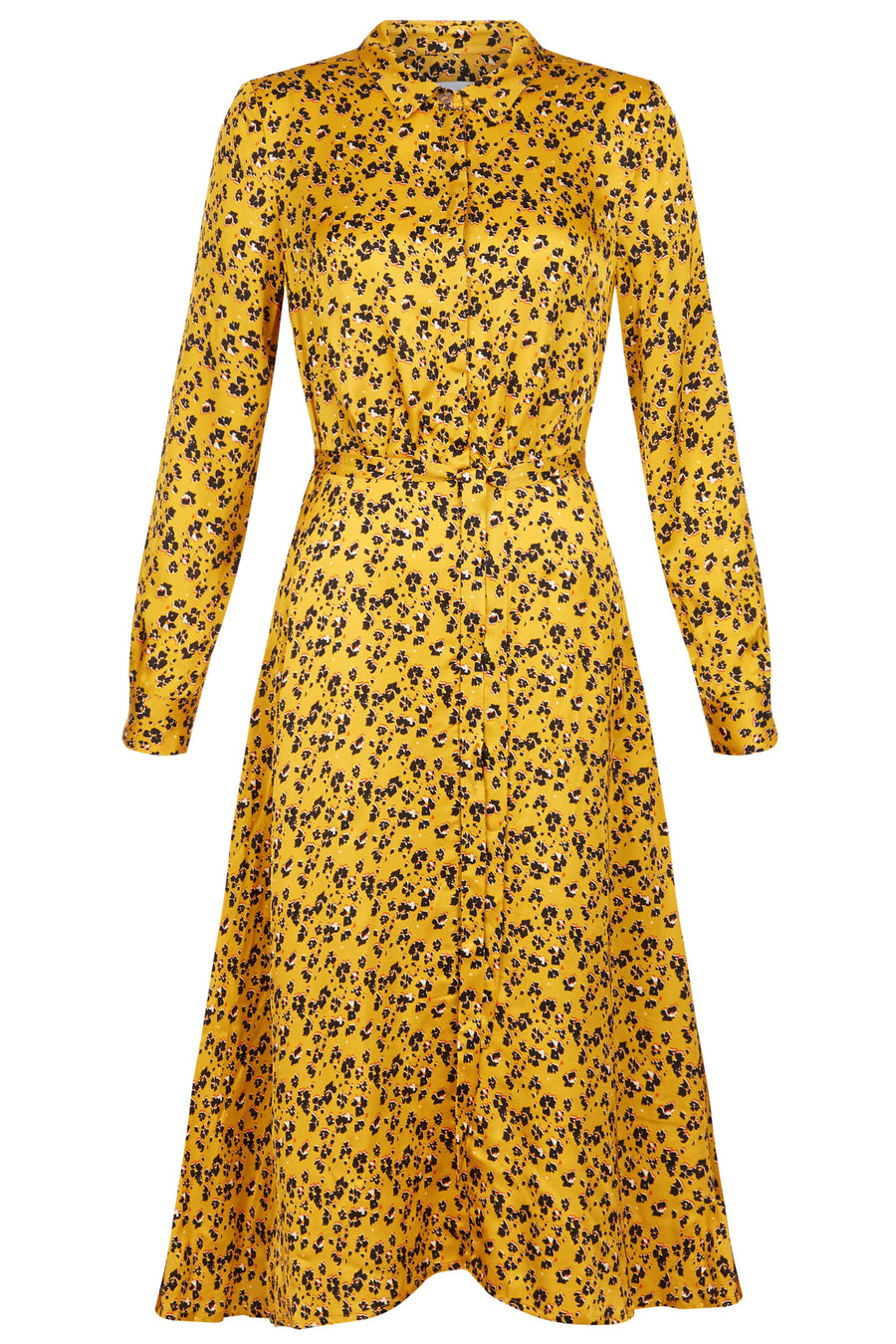 Exeter Golden Yellow Print Shirt Dress