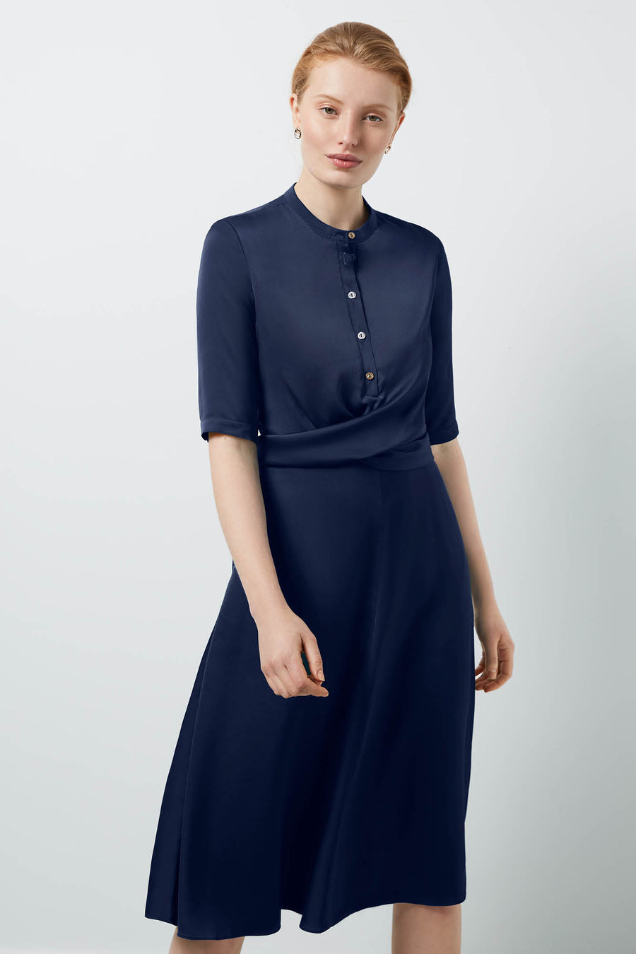 Hampshire Navy Shirt Dress