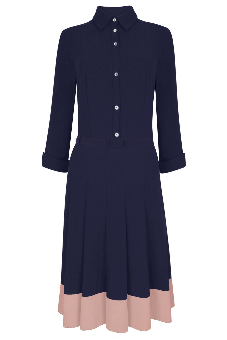 Lewis Navy & Pink Shirt Dress