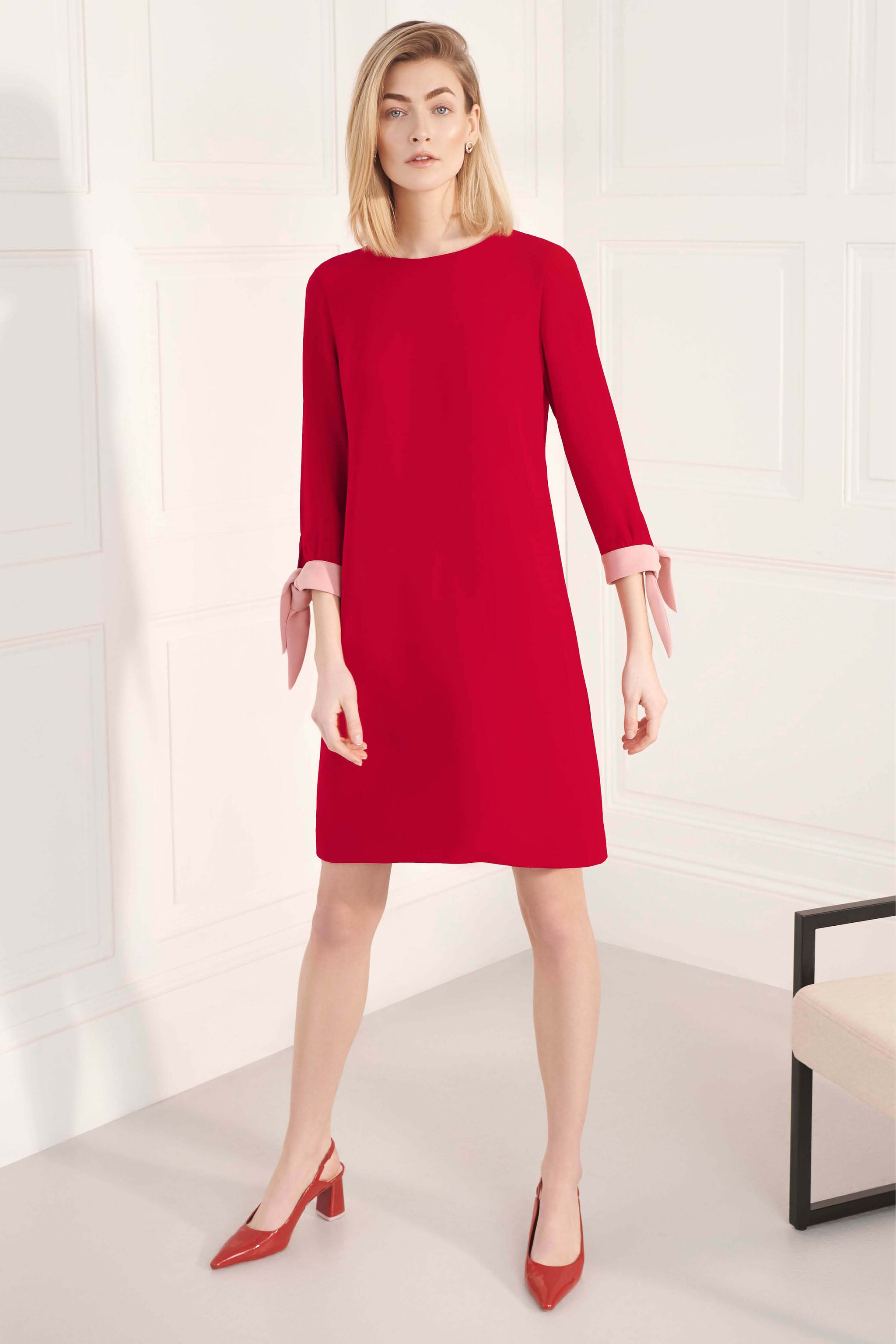 Padstow Red and Pink Dress