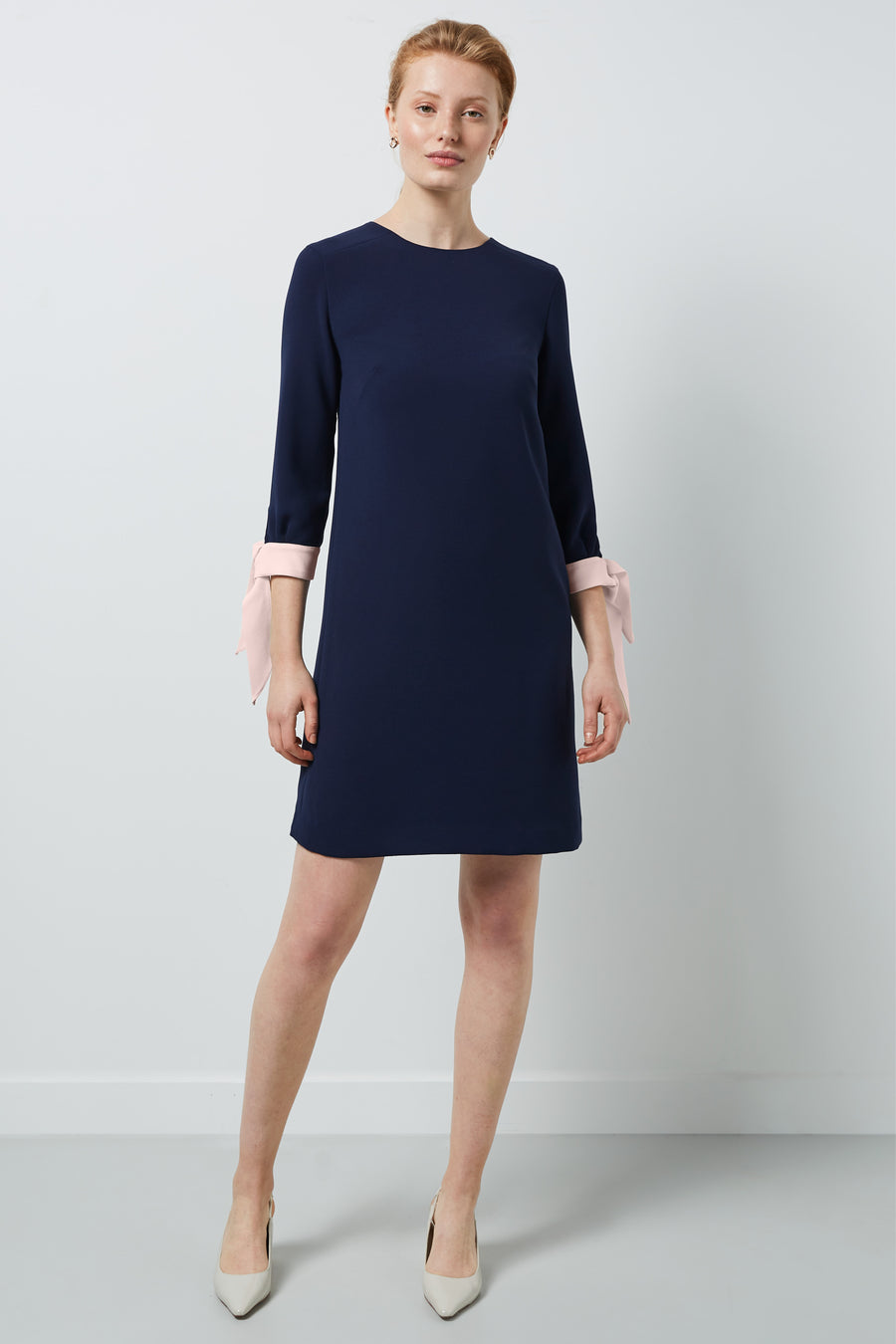 Padstow Navy and Pink Dress