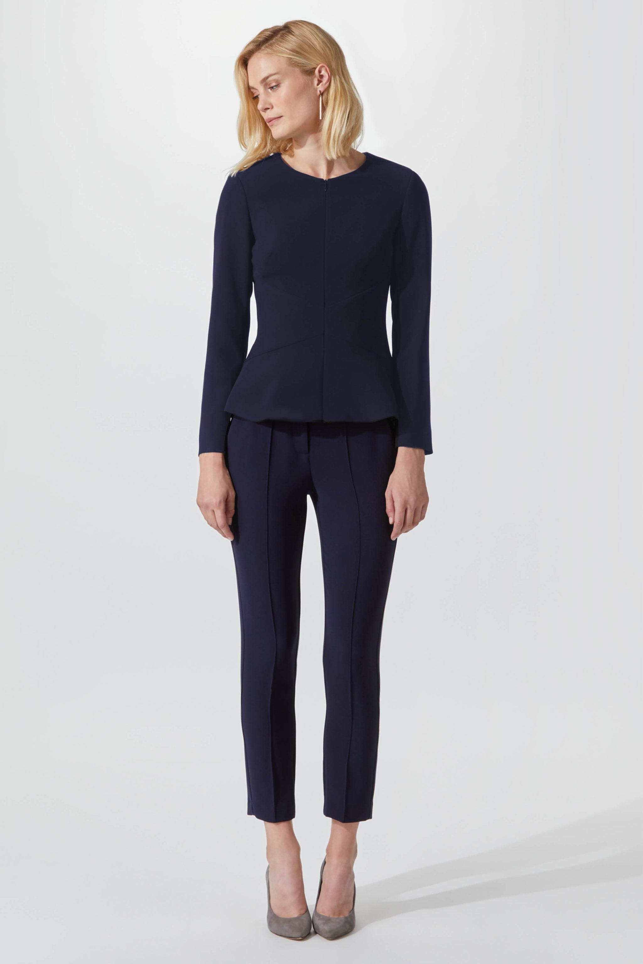 Savoy Navy Suiting Trousers