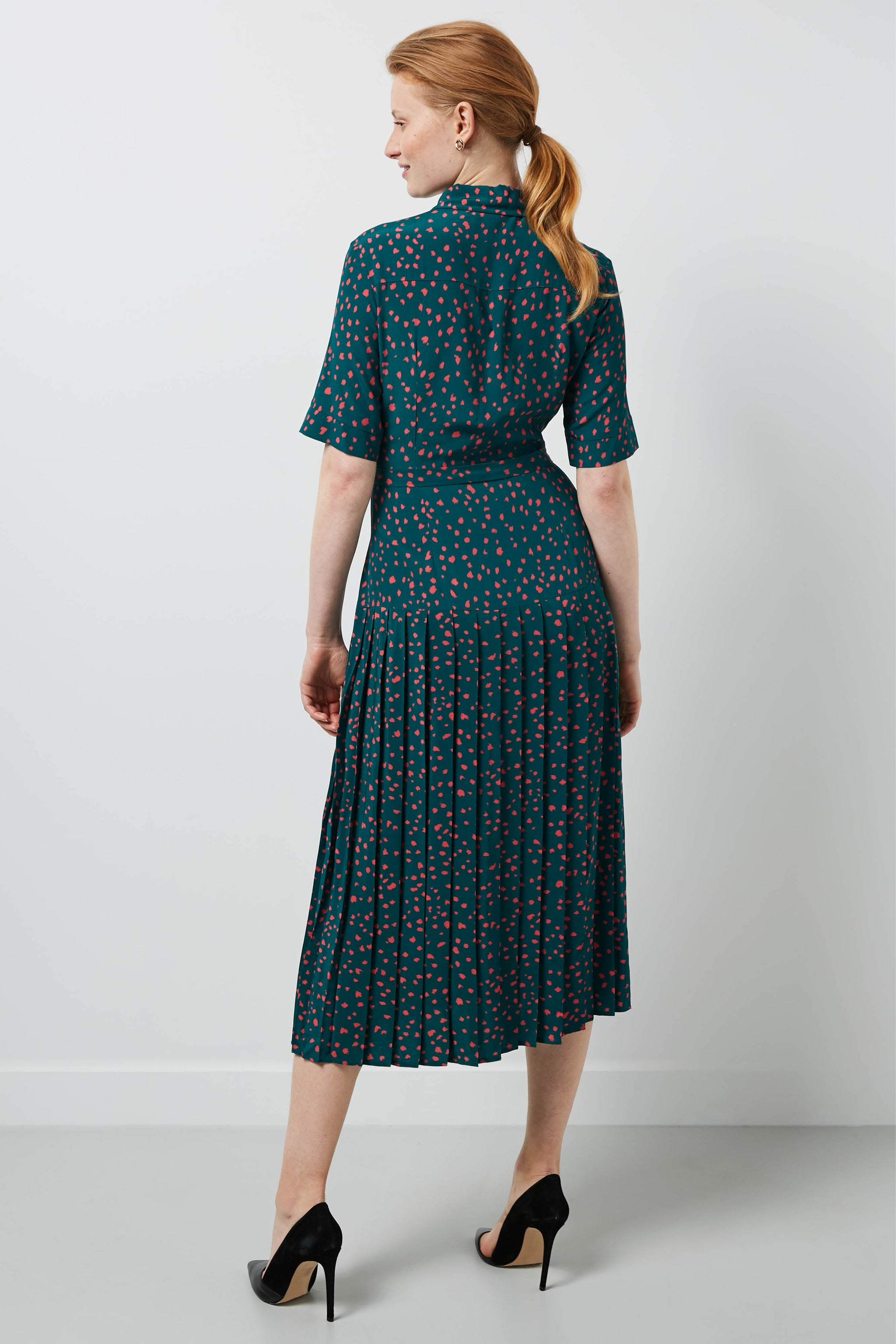 Tavistock Green Dapple Print Shirt Dress