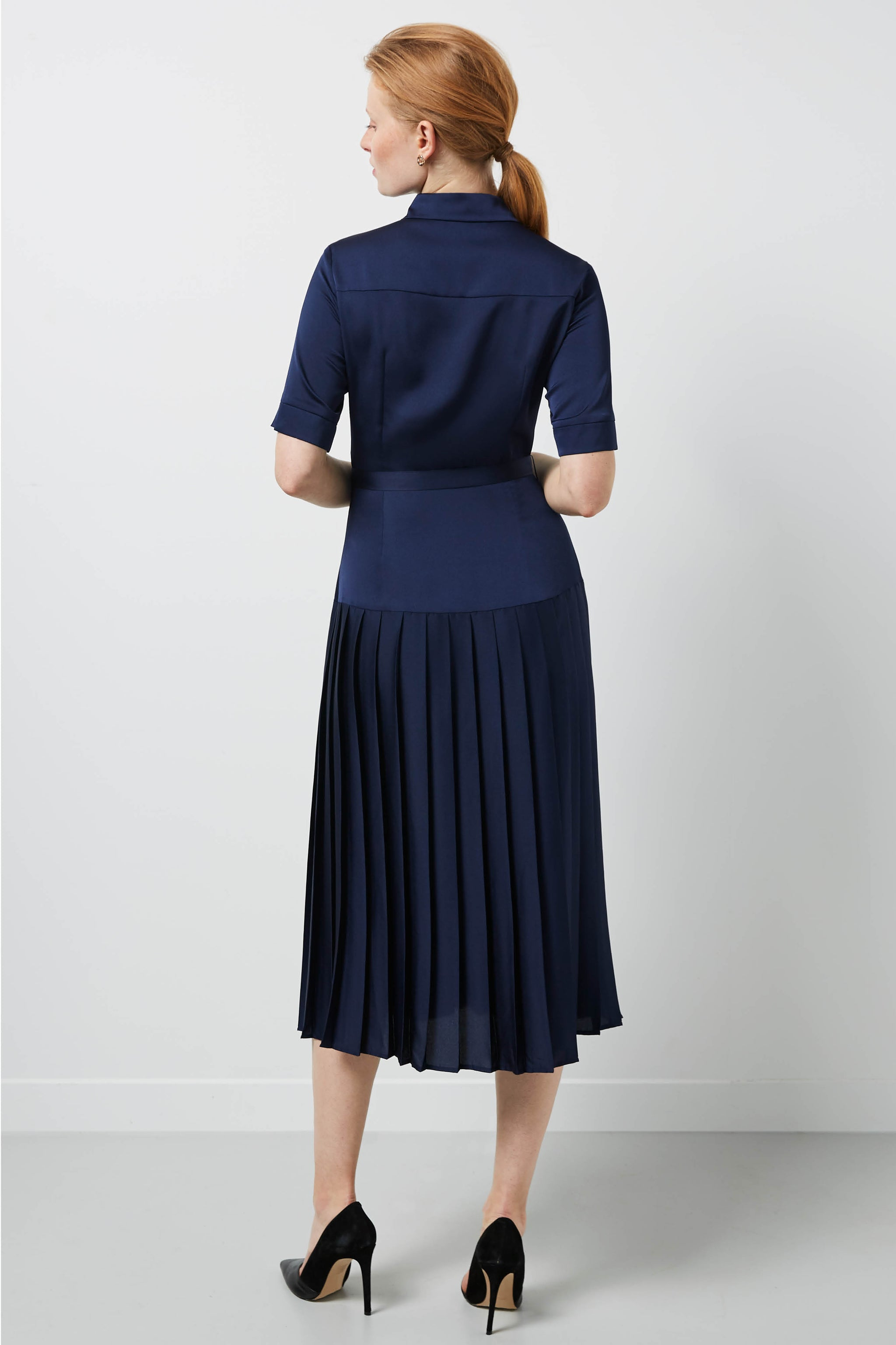 Tavistock Navy Shirt Dress