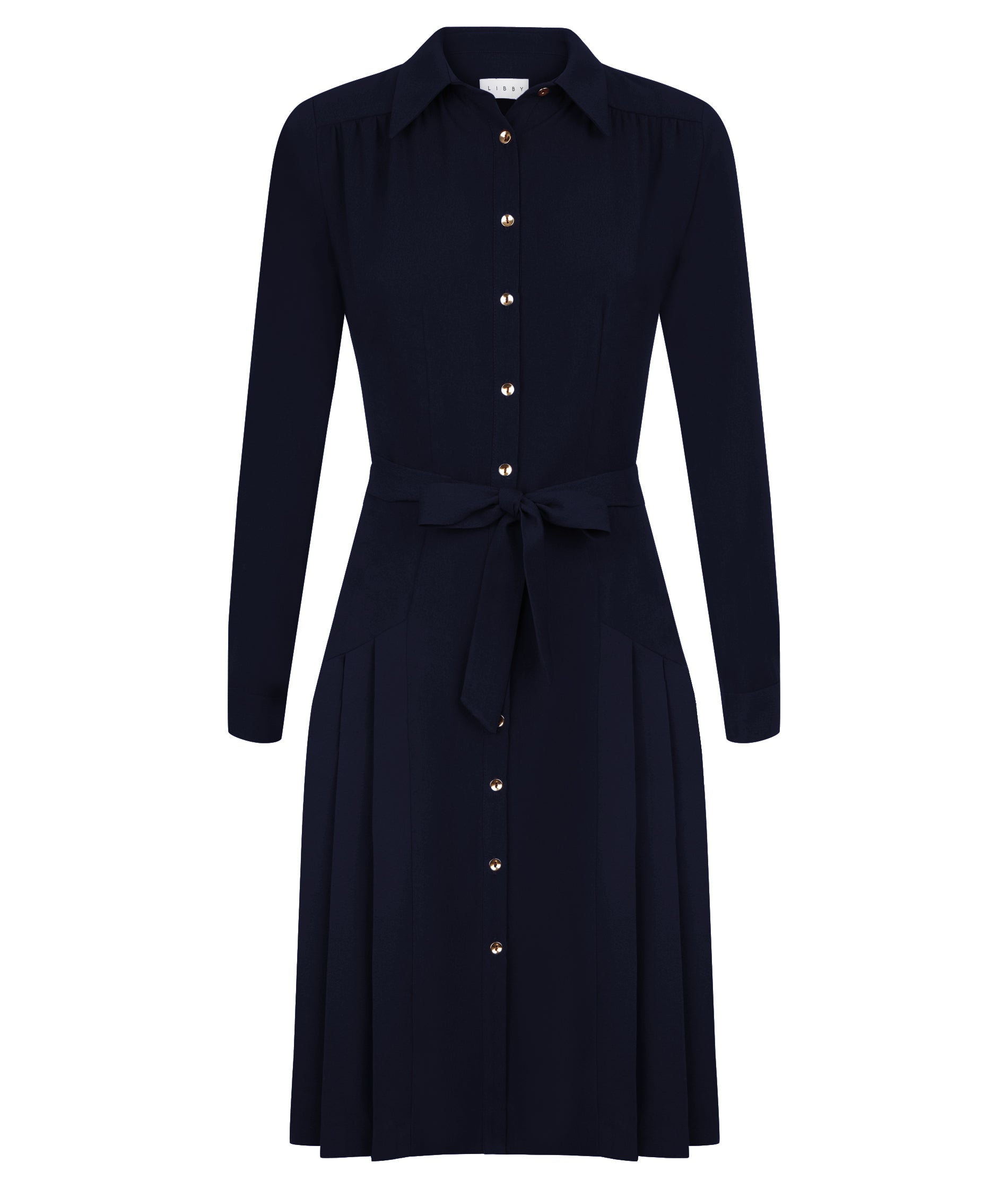 Thames Navy Shirt Dress