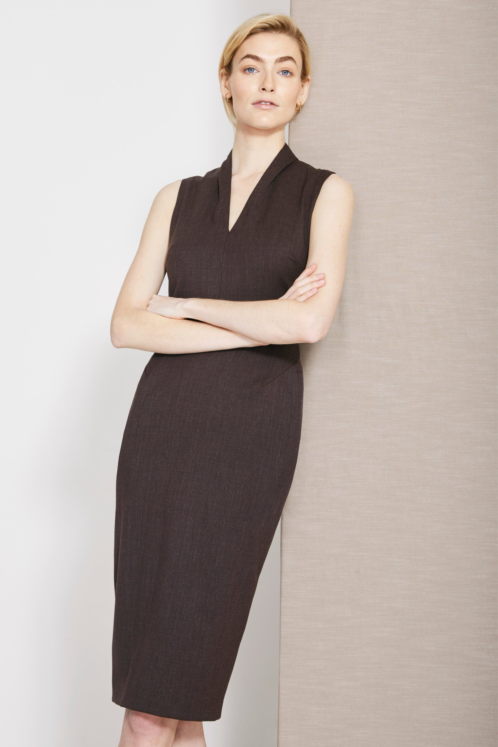 Allington Truffle Brown Dress