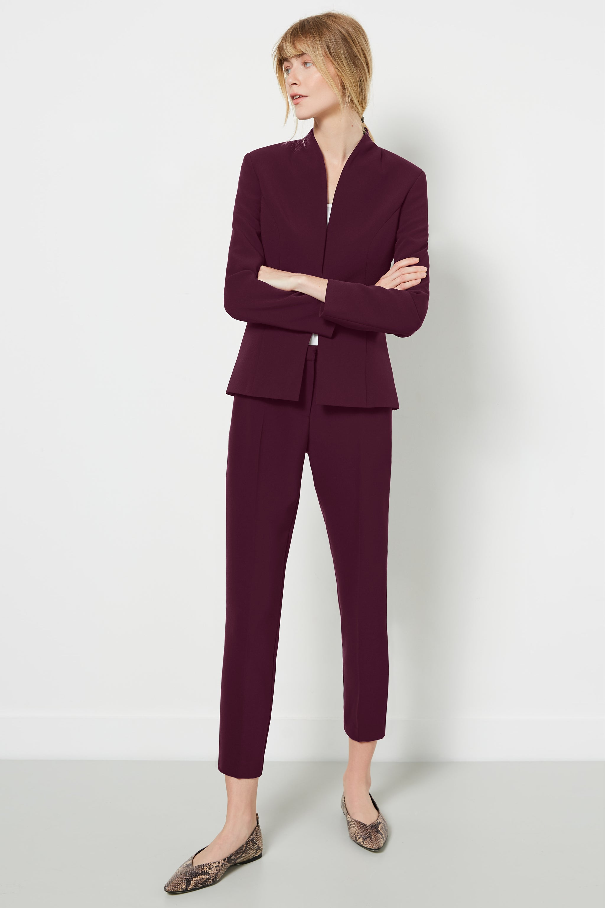 Clarence Aubergine Trousers