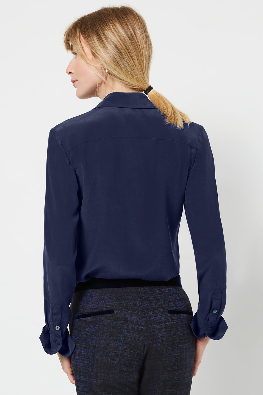 Beaulieu Navy Silk Shirt