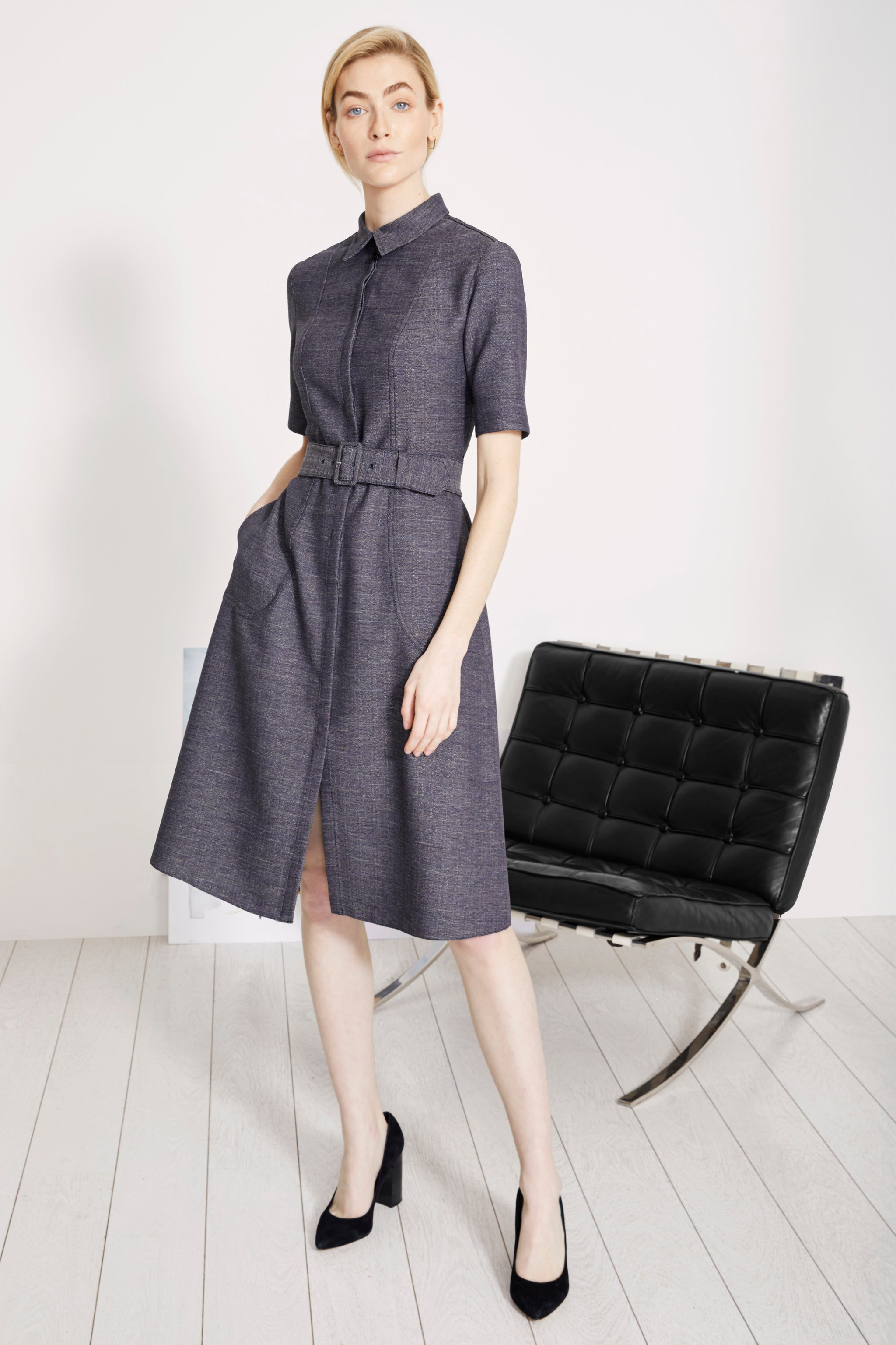 Belvedere Chambray Shirt Dress