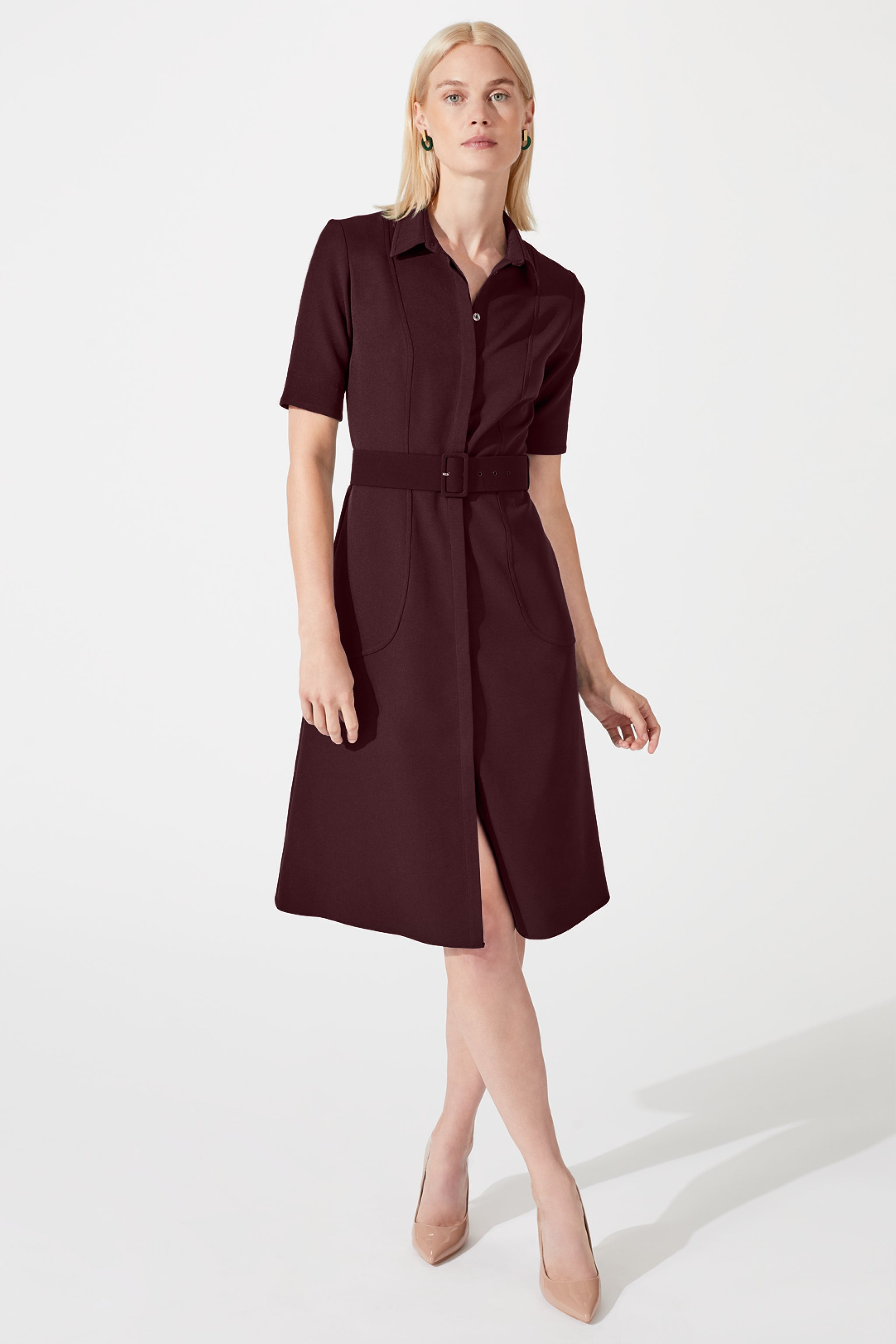 Belvedere Damson Shirt Dress