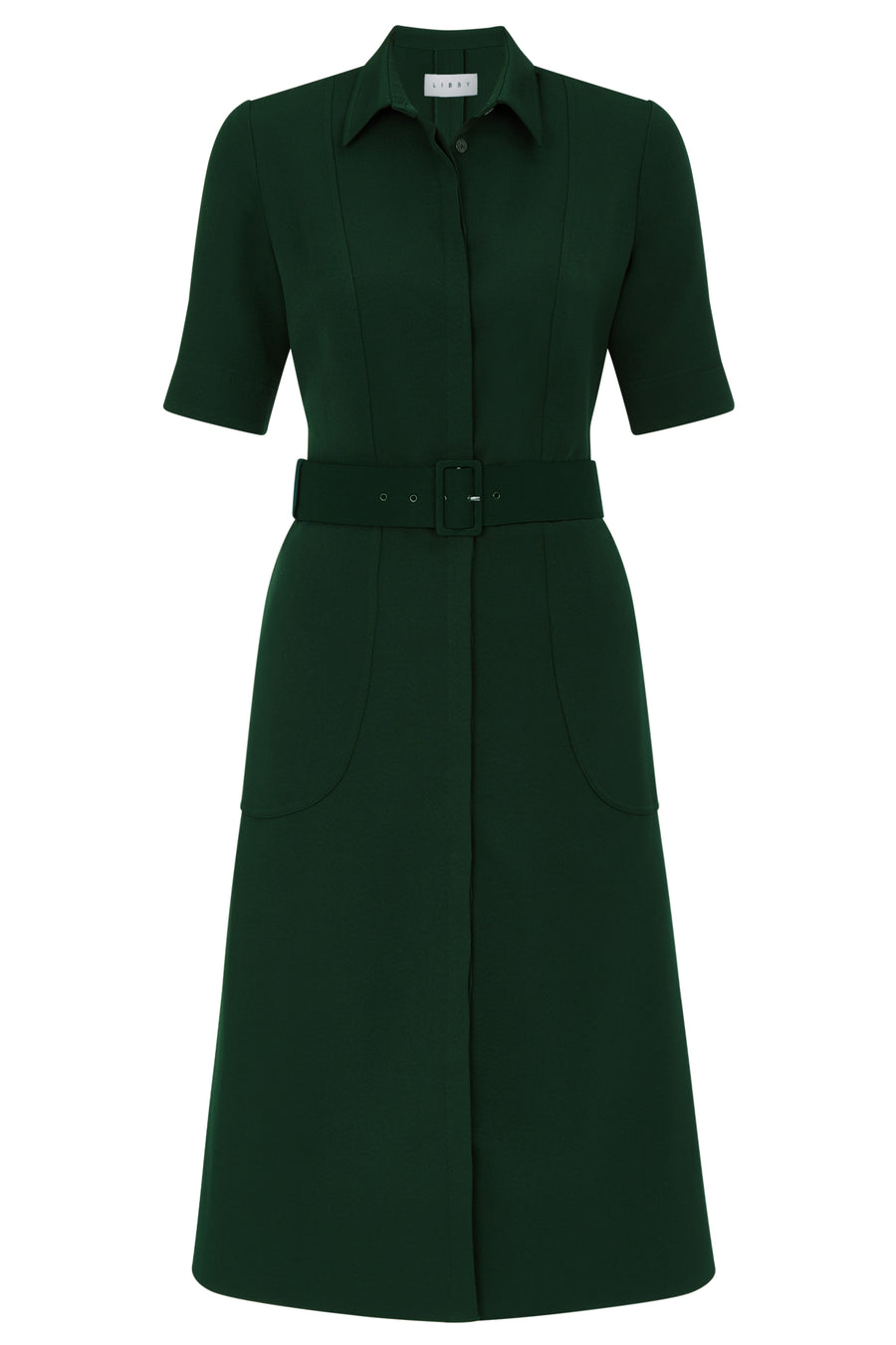Belvedere Green Shirt Dress