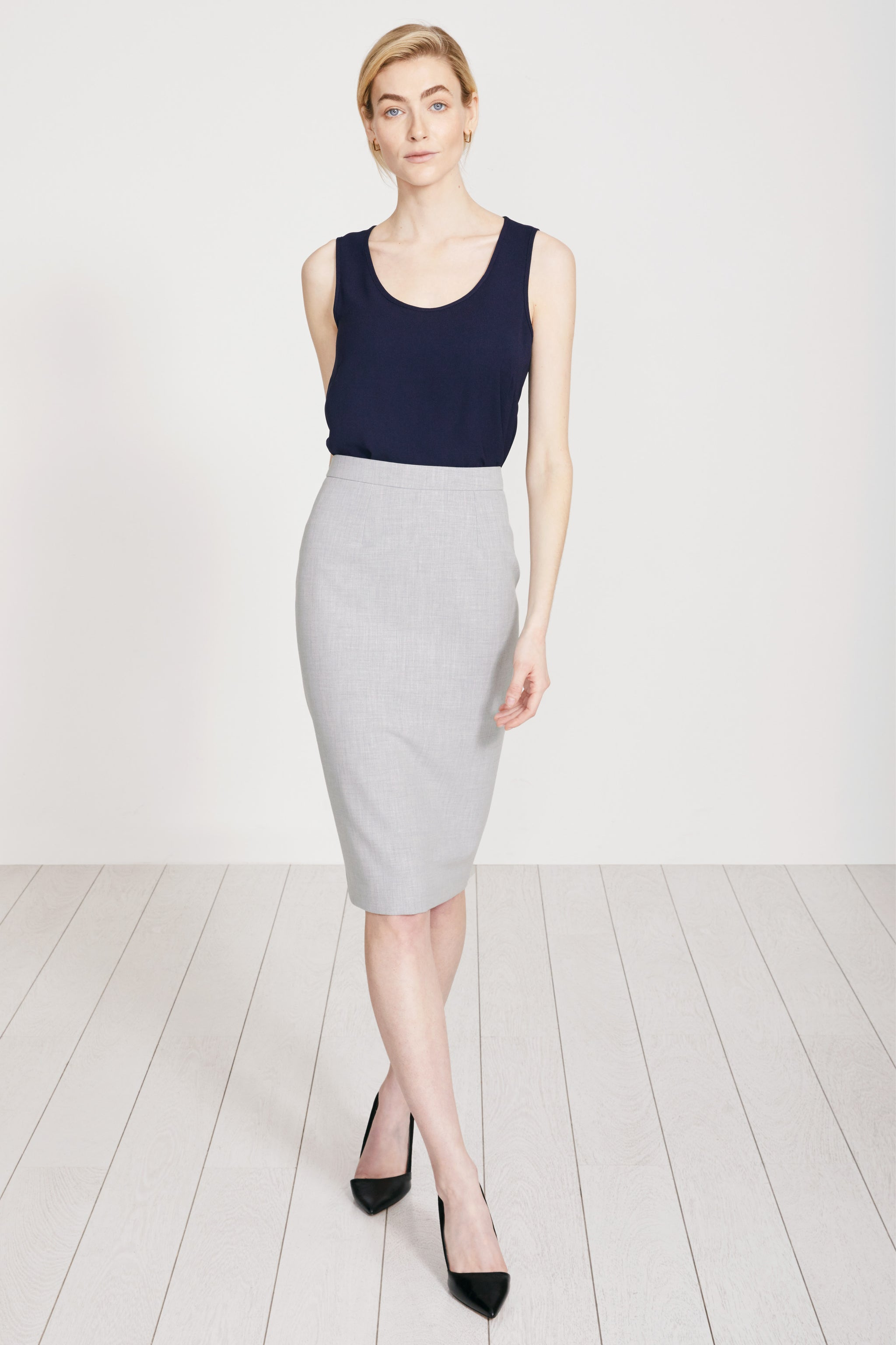 Suzy Pale Grey Skirt