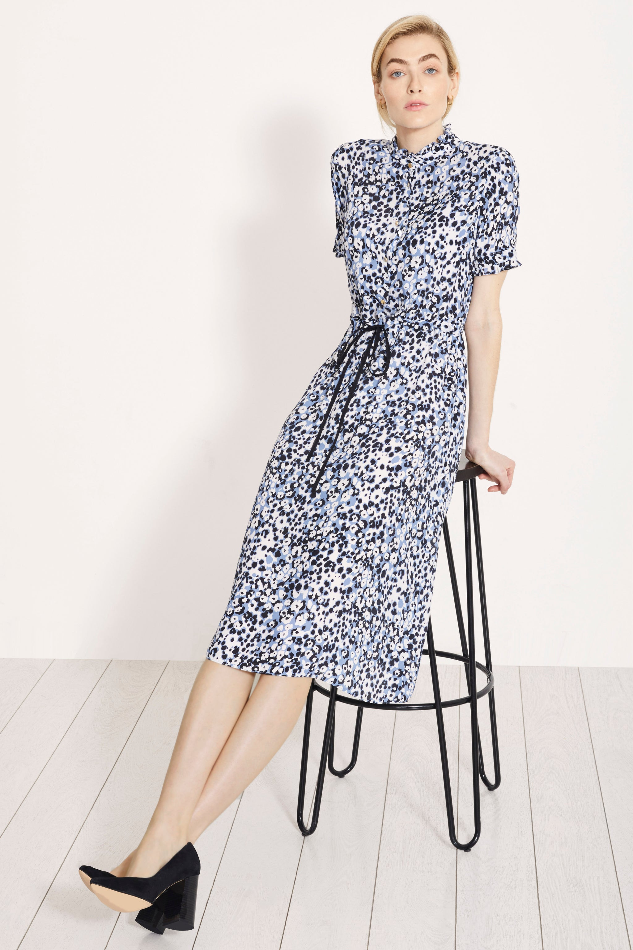 Canterbury Turner Blue Spot Print Dress
