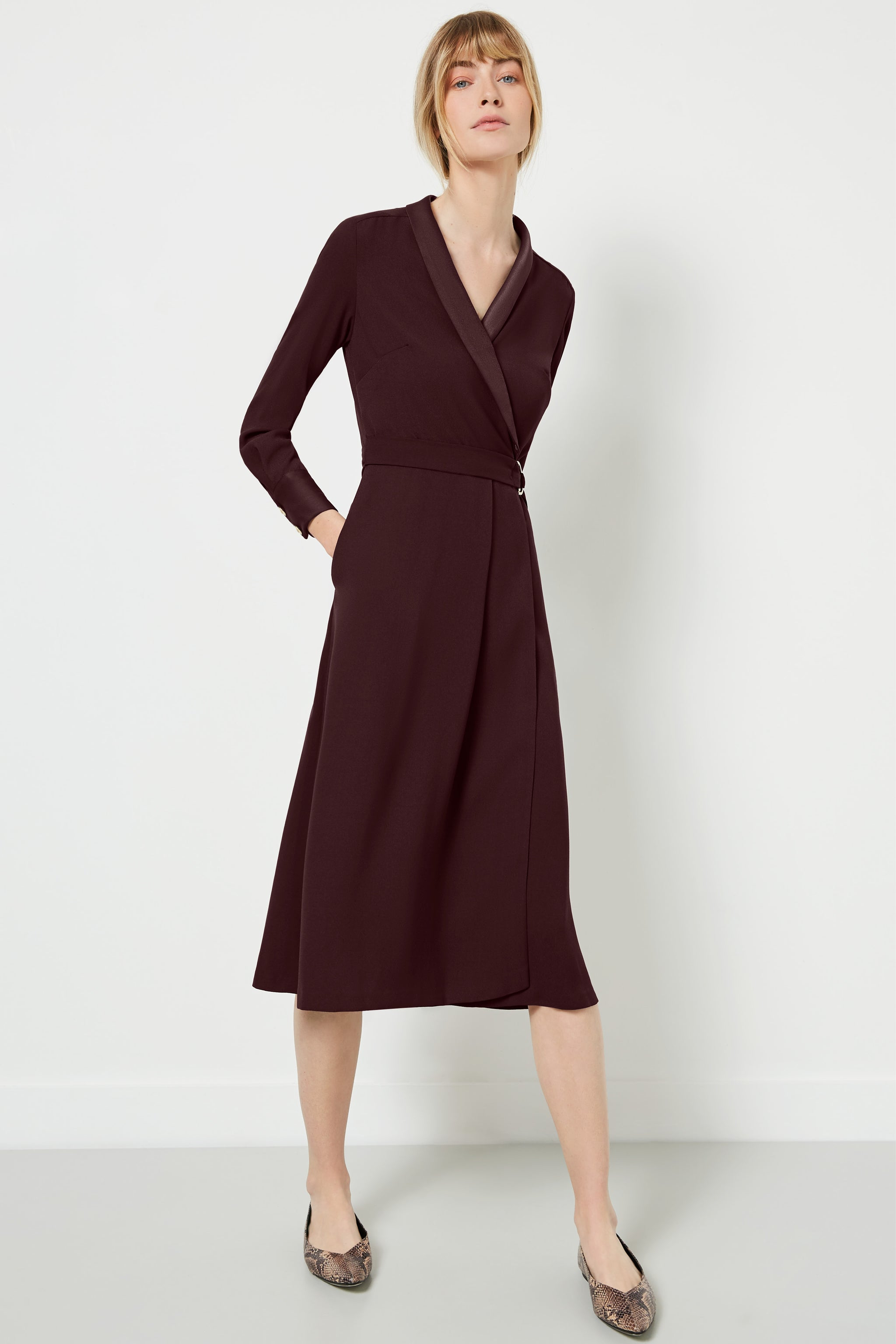 Carlton Aubergine Dress