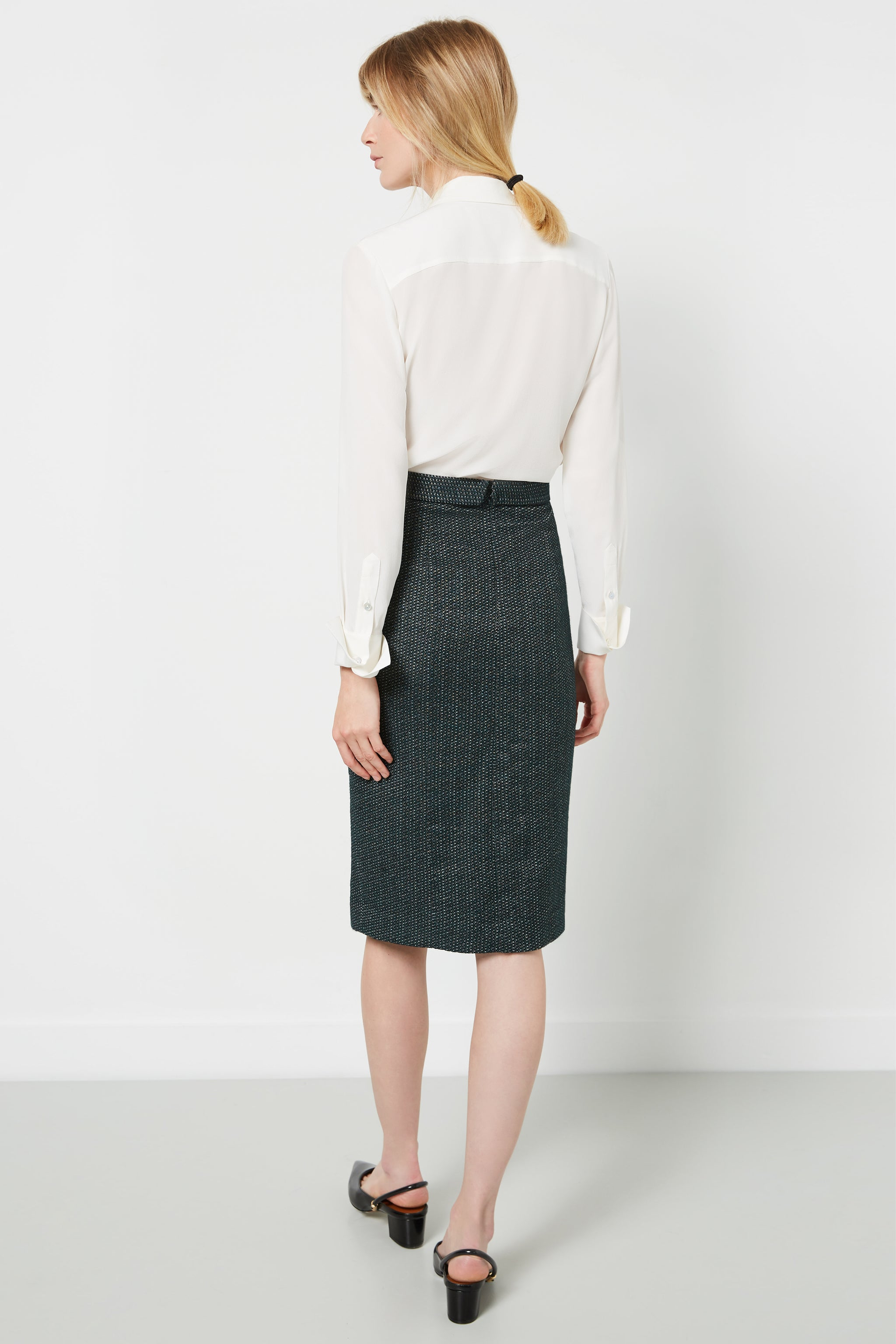 Chester Green Boucle Skirt
